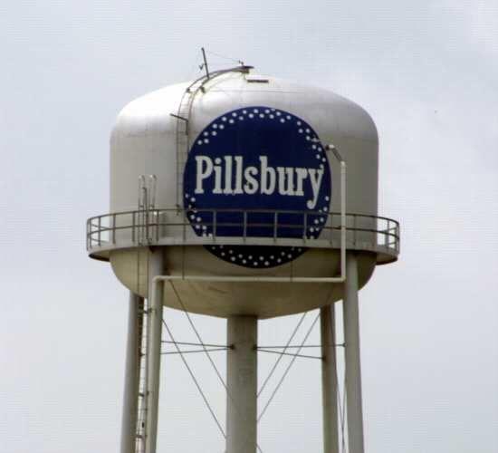 Pillsbury Water Tower in Floyd Co, Indiana