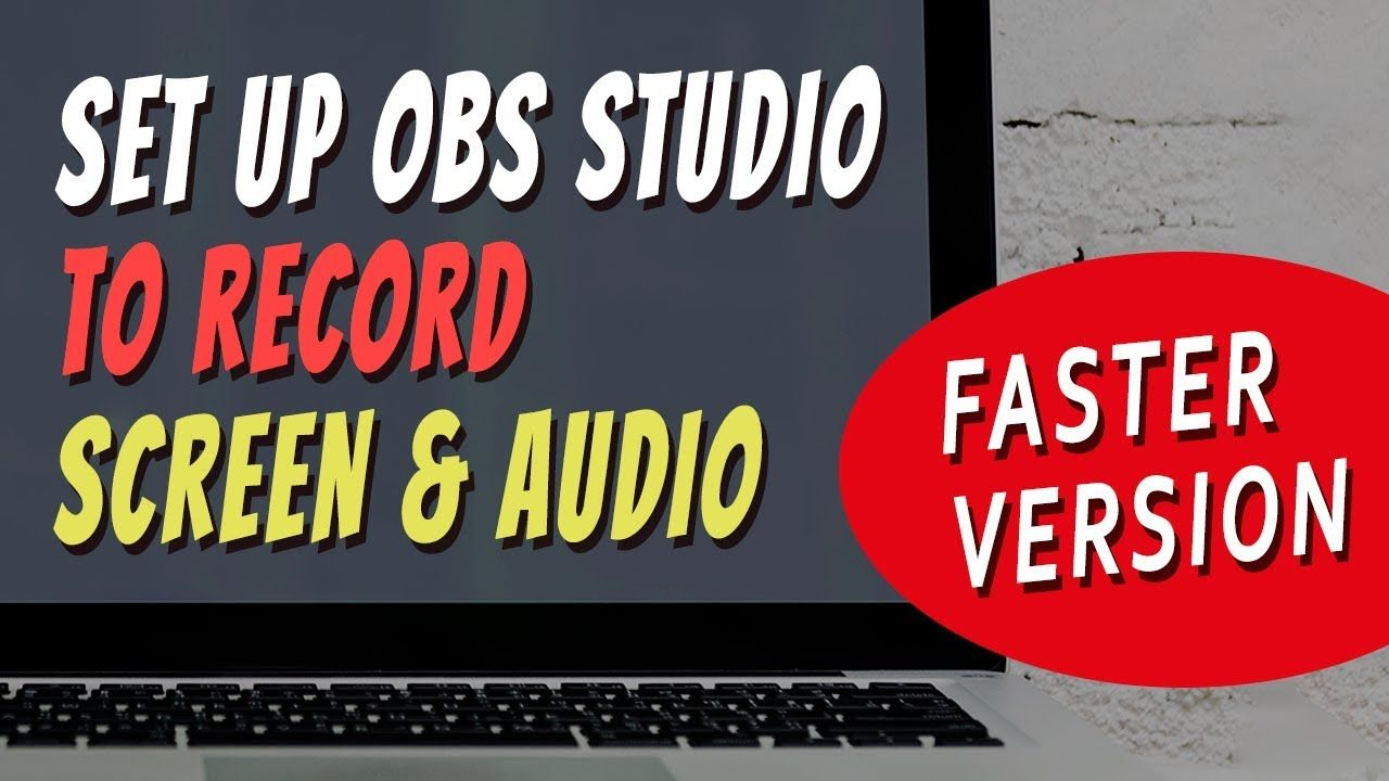 Capture Computer Screen and Audio With OBS Studio [FAST TUTORIAL
