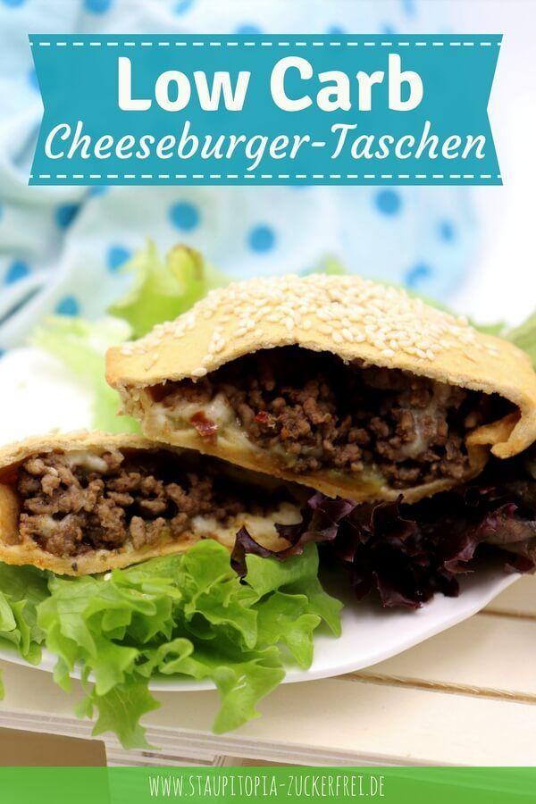 Low Carb Cheeseburger Taschen - Staupitopia Zuckerfrei