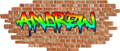 Best Details About Personalised Graffiti Name Brick Wall 640 x 480