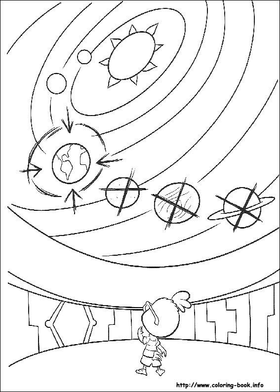 Chicken Little Coloring Picture Solar System Coloring Pages Space Coloring Pages Planet Coloring Pages