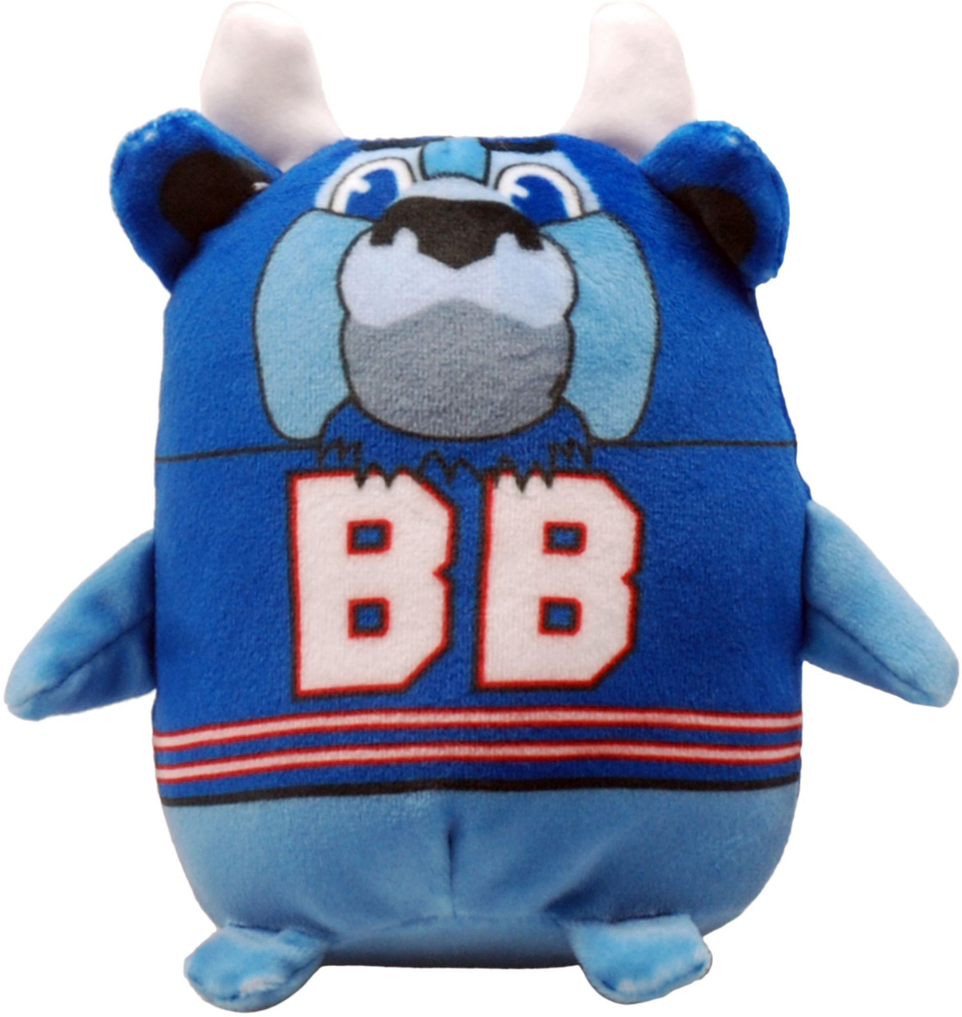 Your little one can showcase their love for their favorite mascot with the FOCO® Buffalo Bills Mascot Smusher Plush. Stuffed Mascot Plush stuffed toy Made of soft material Team Spirit Features Buffalo Bills mascot Additional Details Officially licensed by the NFL