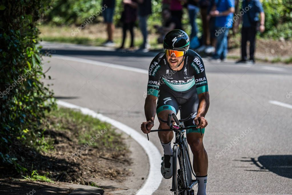 Verona Italy June 2019 Professional Cyclist Bora Hansgrohe ...