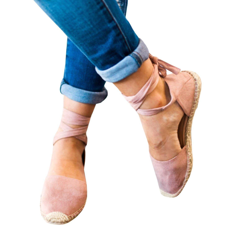 b3a456ec8a16 Fashare  Women Espadrilles Tie up  Flat  Sandals Peep Toe  Classic  Espadrille  Shoes  fashion  style