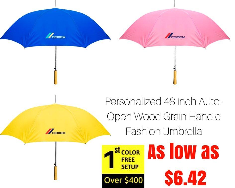 48 Inch Auto Open Wood Grain Handle