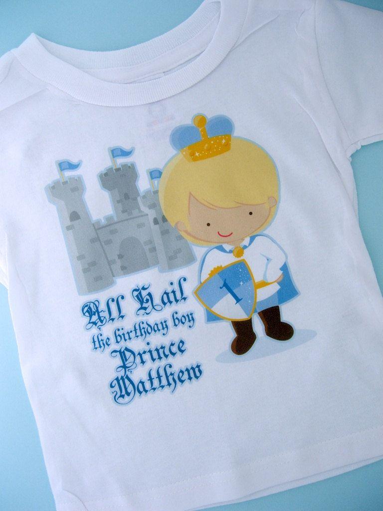 Birthday Shirt Prince Personalized Cute Boy Tee Or Onesie