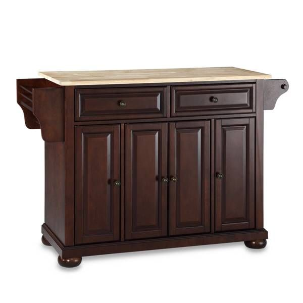 Product Image for Crosley Alexandria Natural Wood Top Kitchen Island 1 out of 2