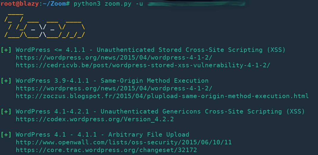 Zoom: Automatic & lightning fast wordpress vulnerability