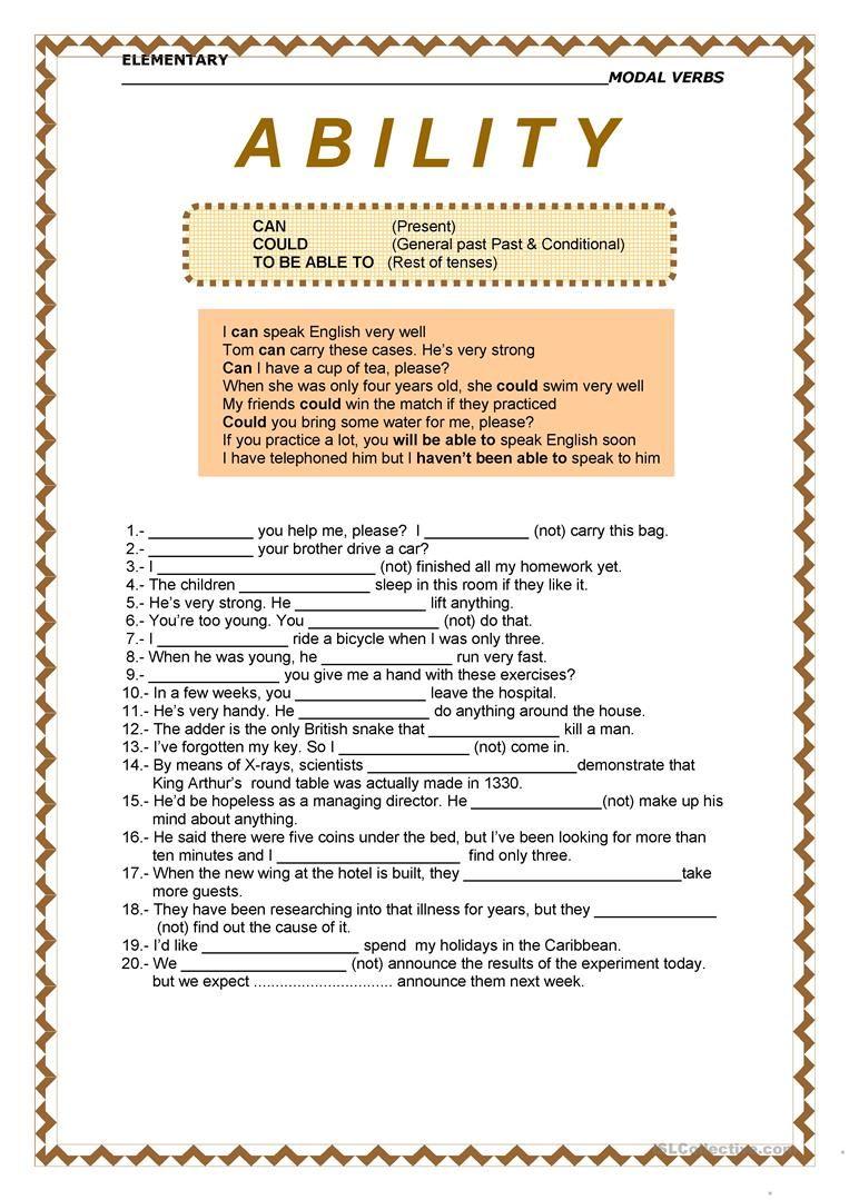 Mosal Verbs Ability English Phrases Verb Writing Skills [ 1079 x 763 Pixel ]
