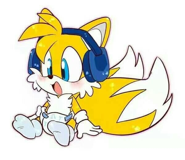 Lil Tails Baby Sonic Fan Art Classic Sonic