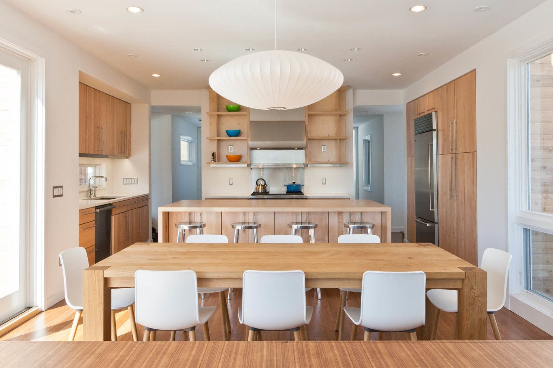modular dining room. Modern Modular Prefab House | New York State Kitchen Custom Millwork Cabinets Dining Table Room S