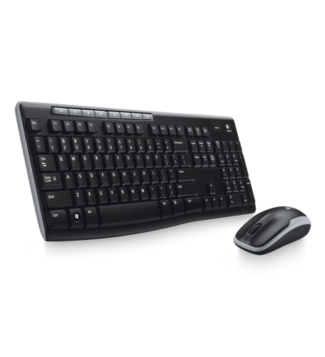 With 2 4 Ghz Wireless Connectivity Long Battery Life And Spill Resistant Keyboard This Compact Keyboard And Mouse Give Y Logitech Wireless Logitech Keyboard