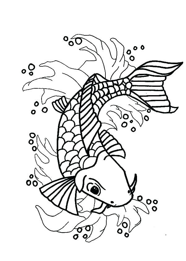Koi Fish Realistic Pages Coloring Pages Home Furniture