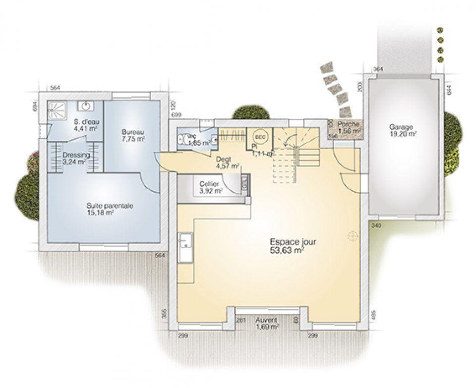 Plan maison neuve à construire - Maisons France Confort Loft 125