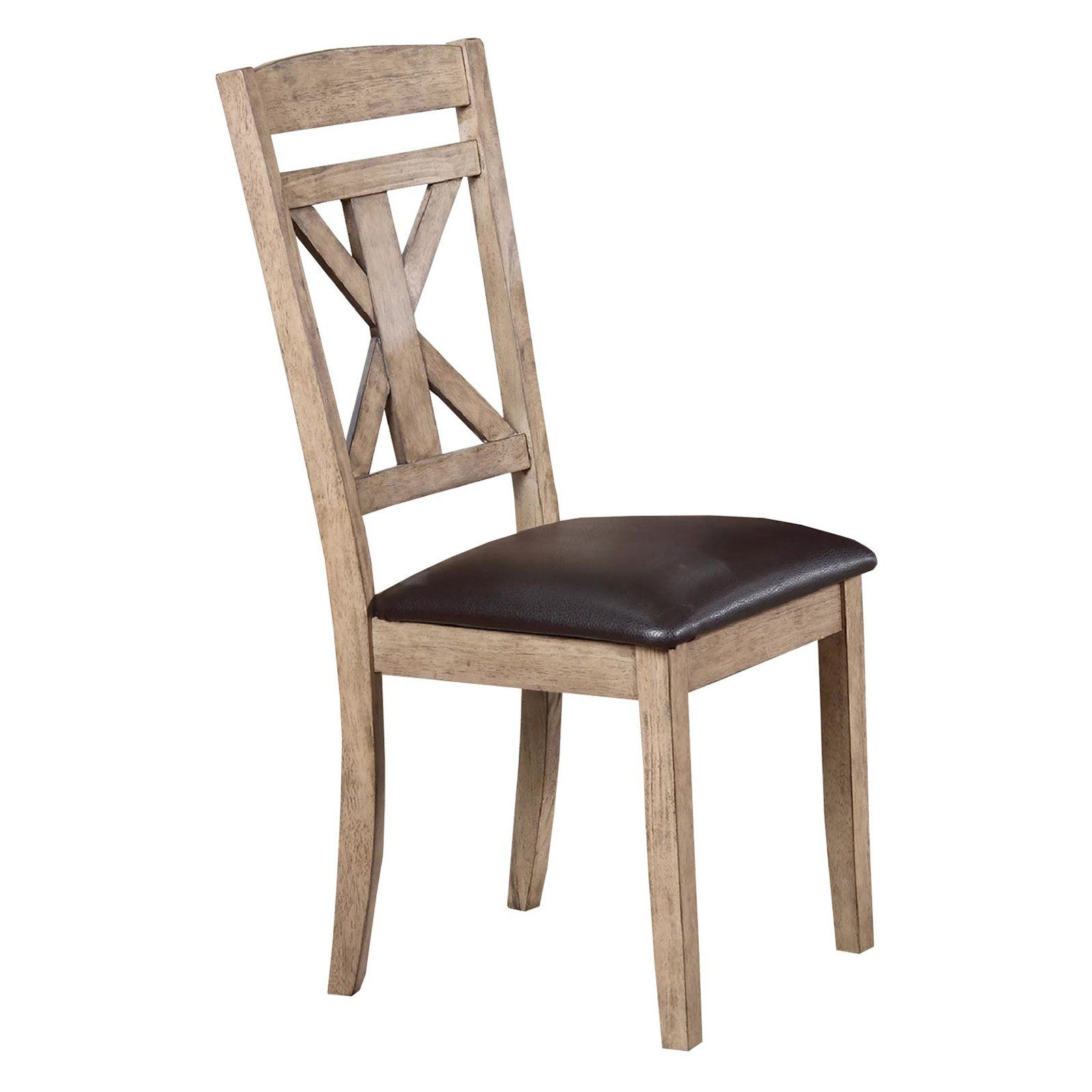 Winners Only Upholstered Cross Back Dining Side Chair ...