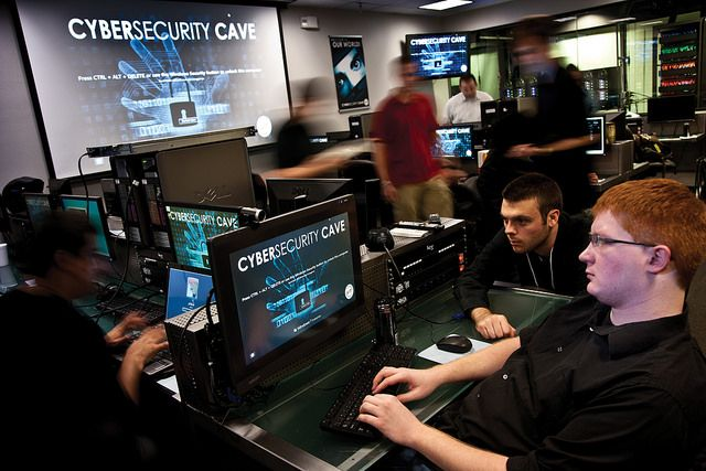 Network Security Students In The Cyber Security Cave Cyber Security Network Security Security