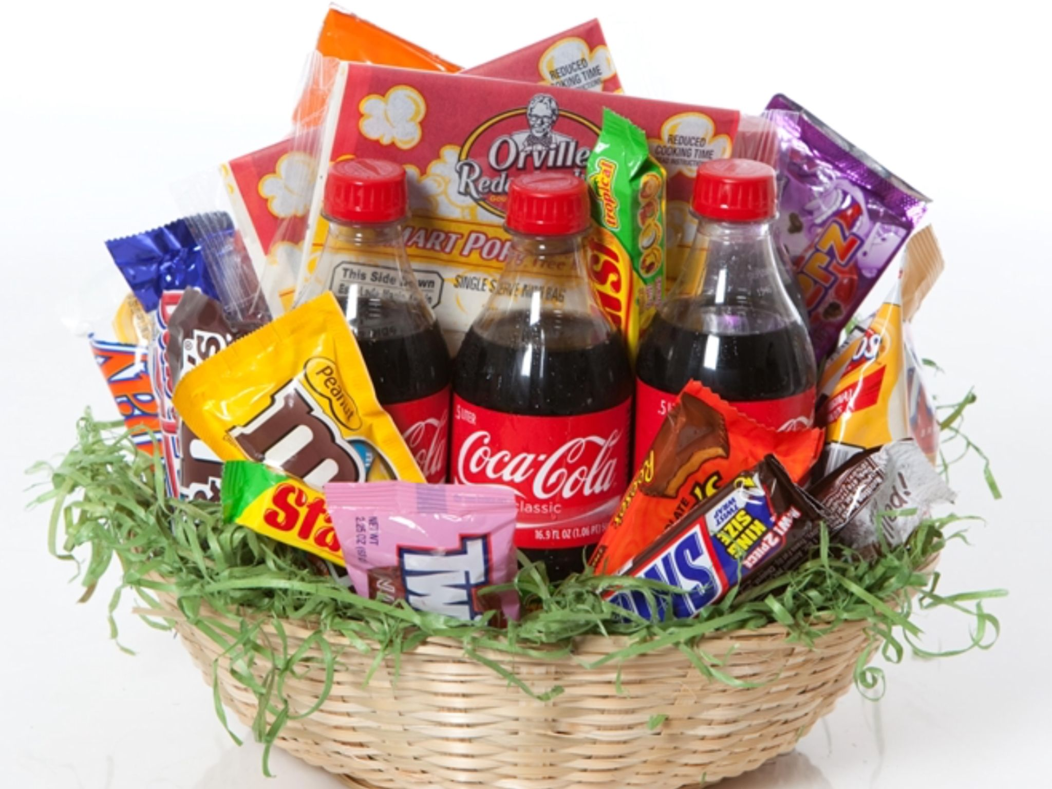 Delicious treats for any one birthday gifts pinterest basket this is the perfect gift for a college student or wildcat lover this junk food basket consists of soda popcorn chips and candy negle Choice Image