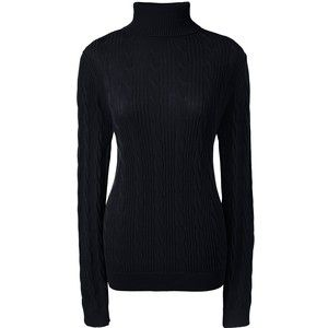 Lands' End Women's Petite Cable Turtleneck Sweater | Parte de cima ...
