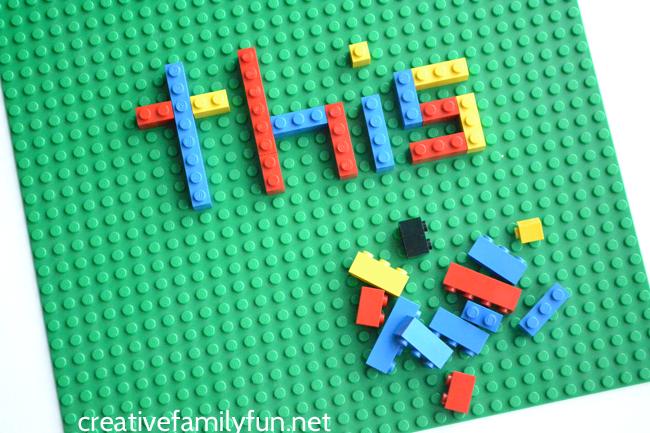 LEGO Spelling Words Activity for Kids   Spelling word activities ...