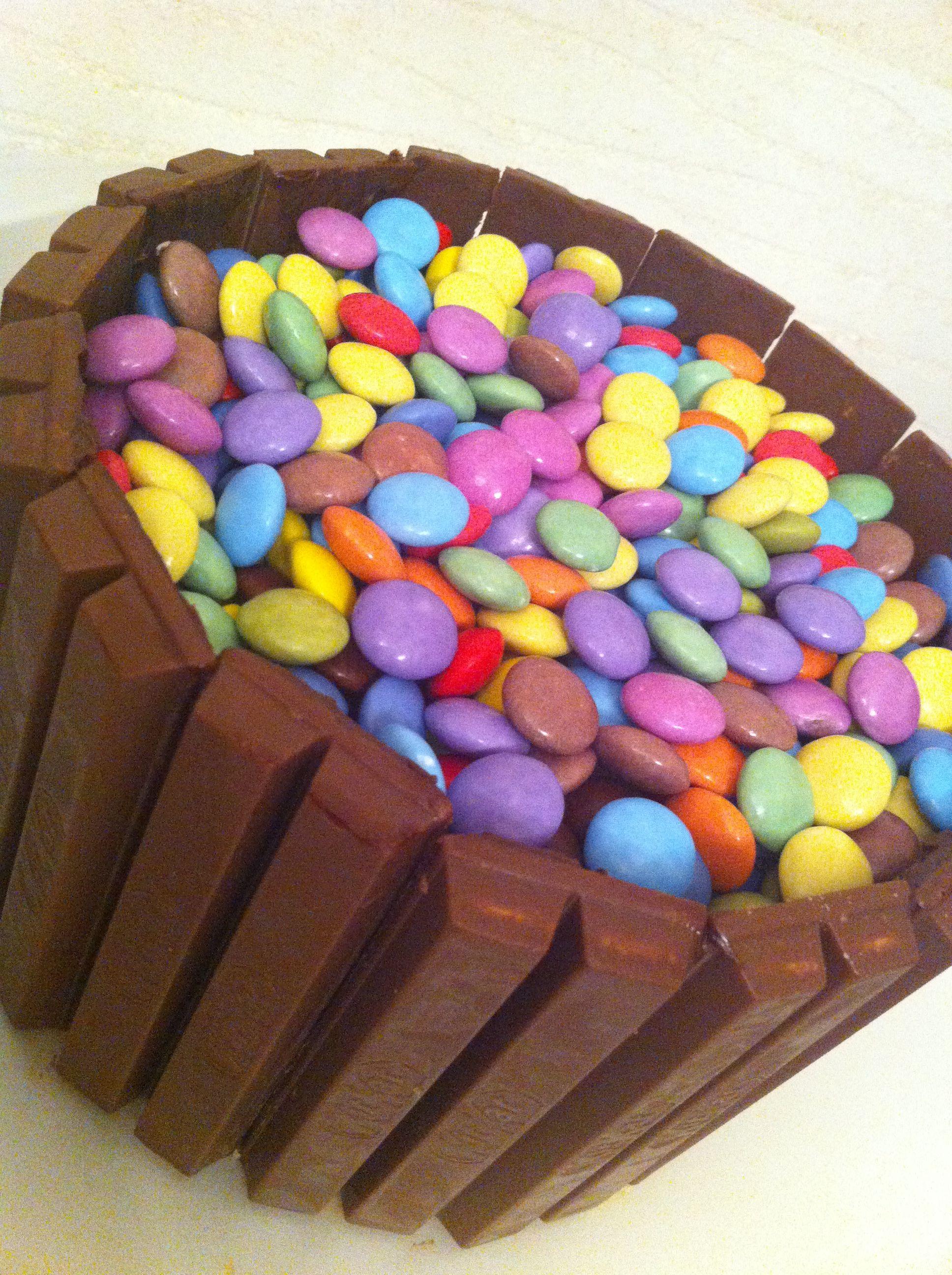KitKat + Smartie cake