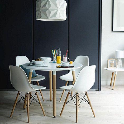 Debenhams White Avignon Dining Table At