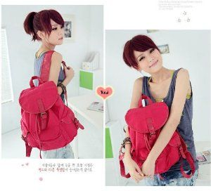 Buypretty Red Color Women Ladys Fashion Korean Style Girl Leisure Canvas Shoulder Bag Backpack by Buypretty #Fashion Bag# #Shoulder Bag# Price $17.70 http://fashioncircle.info/buypretty-red-color-women-ladys-fashion-korean-style-girl-leisure-canvas-shoulder-bag-backpack/