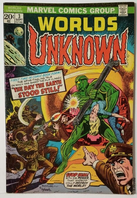Vintage Comic Cover Art/Worlds Unknown