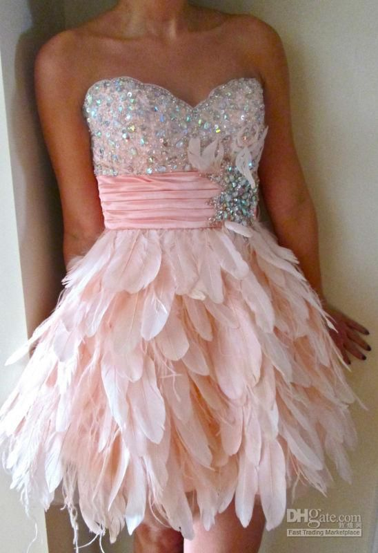 Sparkly Pink Prom Dresses 2012