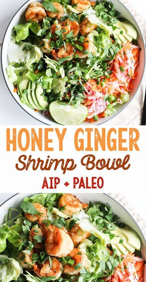 Photo of Honey-Ginger Shrimp Bowls (AIP, Paleo) | Rally Pure