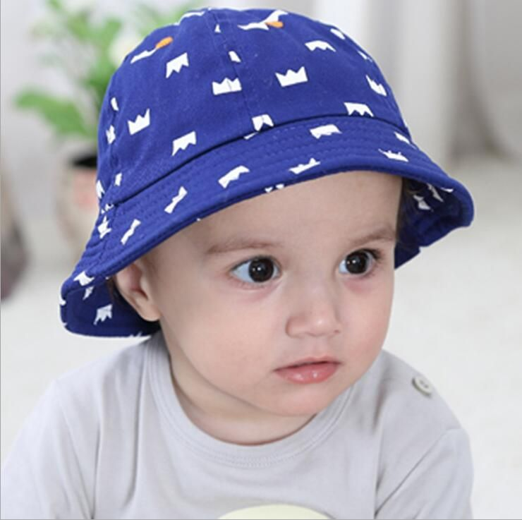 >> Click to Buy << New children cap cotton small bucket hats sun-shading print crown baby sun hat blue color kids hat  #Affiliate