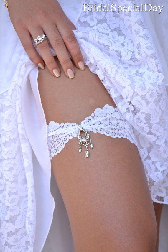 Rhinestone Garter Gold Garte Set Gold  Wedding Garter,White Garter Bridal Garter Set White Lace Garter Something Blue Cristal Garter