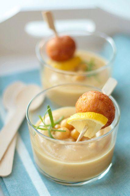 Crema di ceci al rosmarino polpette di baccal in for Ricette spagnole
