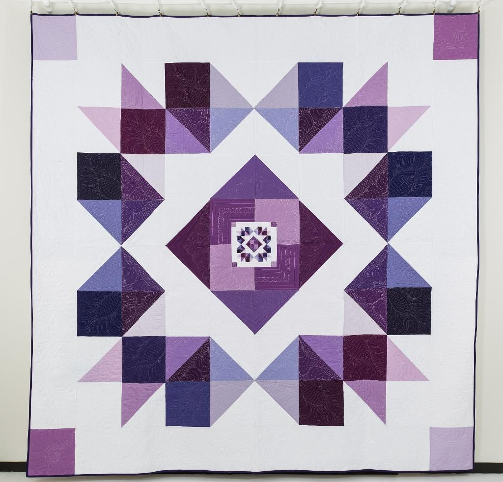 Orchid Mega Quilt Kit Quilting Kit Includes Fabric Pattern Quilts Quilt Patterns Purple Quilts