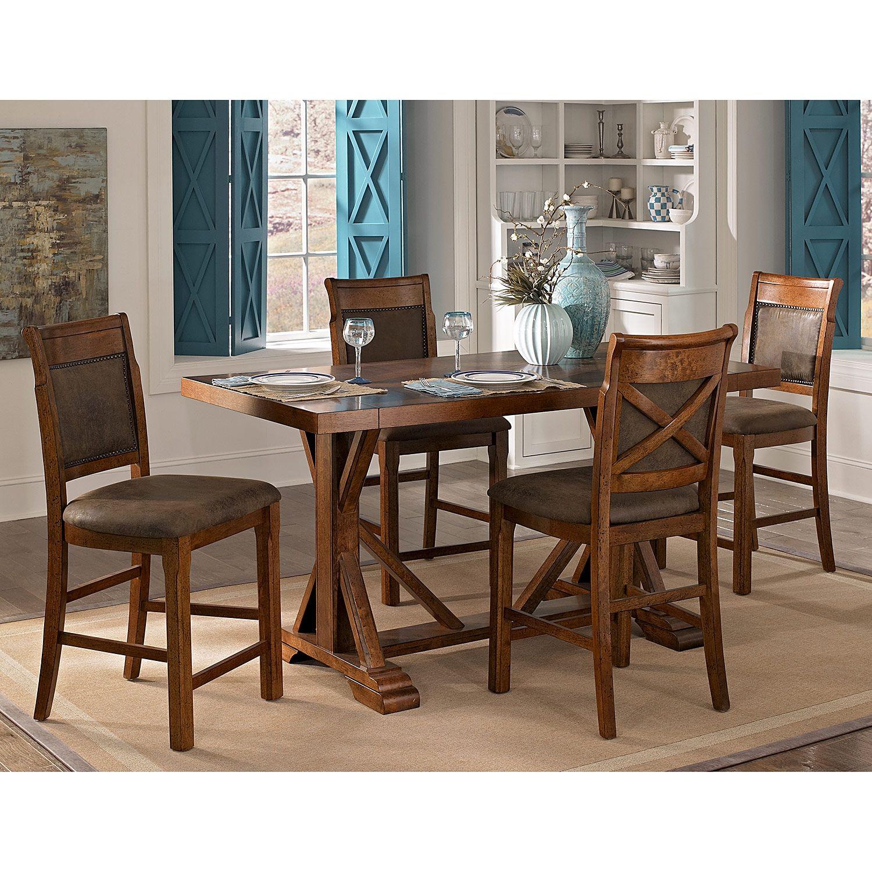 American signature furniture austin walnut dining room