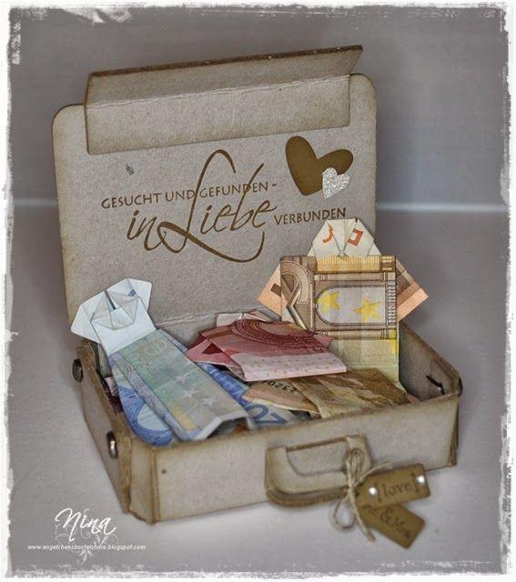 hochzeits karte und geldgeschenk pakowanie prezent pinterest geldgeschenke diy geschenke. Black Bedroom Furniture Sets. Home Design Ideas