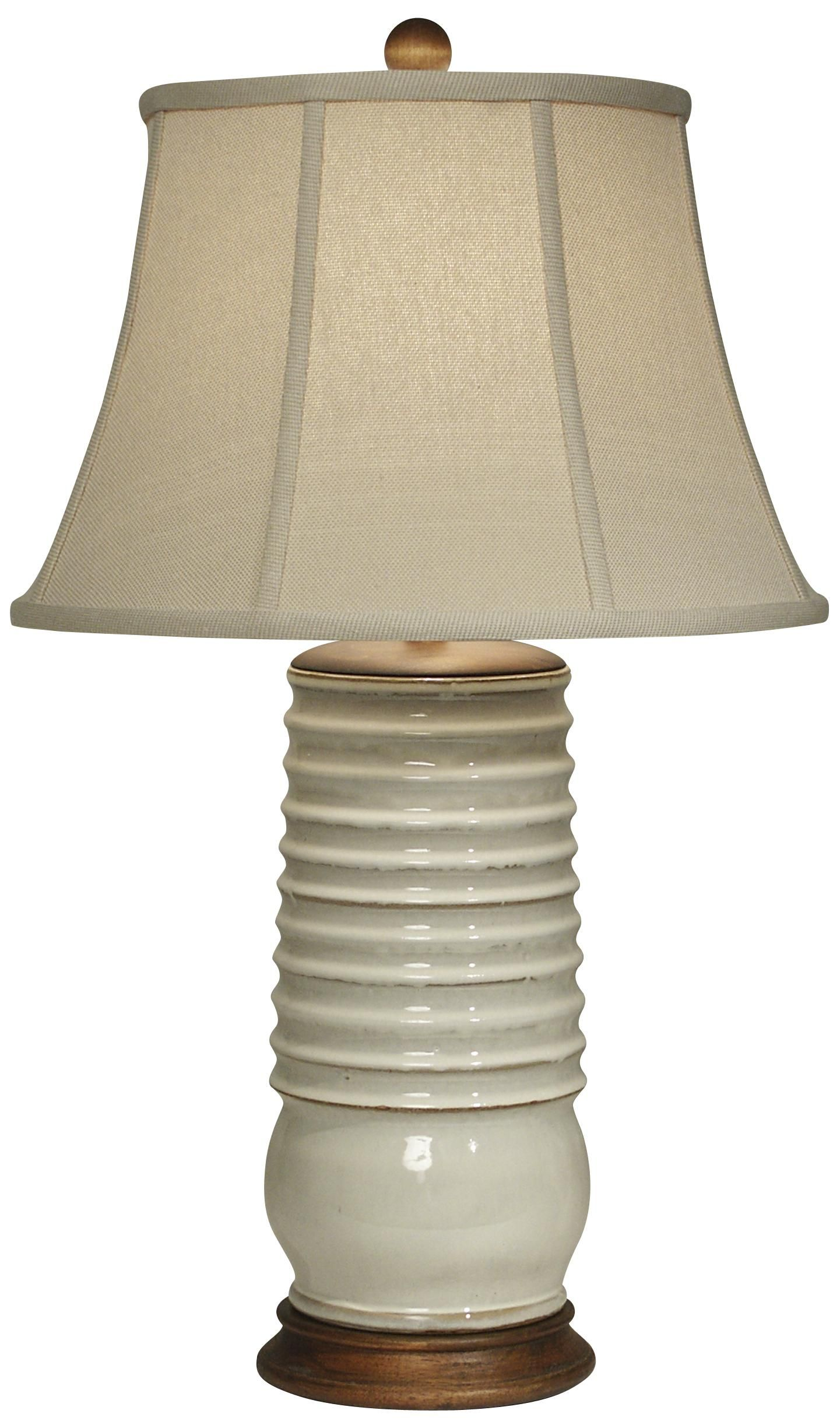 Adam S Rib Ivory Pottery Table Lamp By The Natural Light F9407 Lamps Plus Lamp Table Lamp White Lamp Base