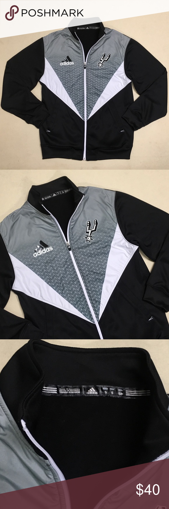 5f795a06a San Antonio Spurs - Adidas Men s Warmup Jacket 🏀 San Antonio Spurs Adidas  Warmup Jacket Size Men s Small Excellent condition!!