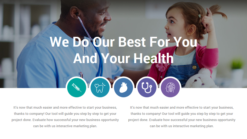 Medical And Healthcare Solutions Powerpoint Template With Images Healthcare Solutions Health Care Medical