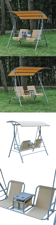Swings Outdoor Swing Chair Canopy Patio Garden Hanging 2