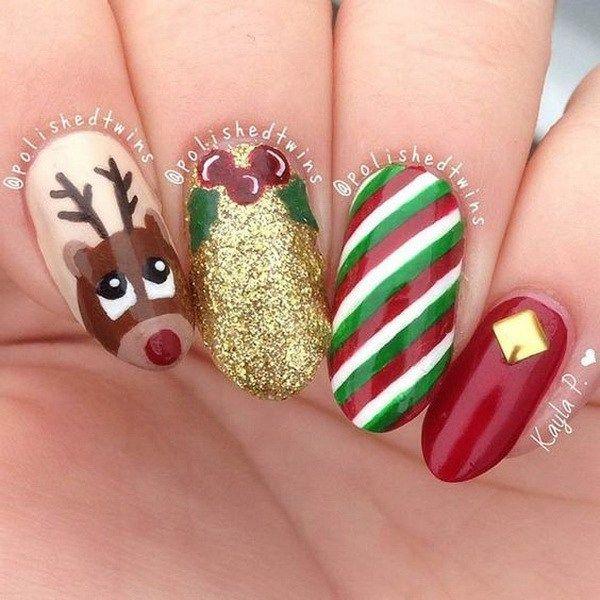 70+ Festive Christmas Nail Art Ideas