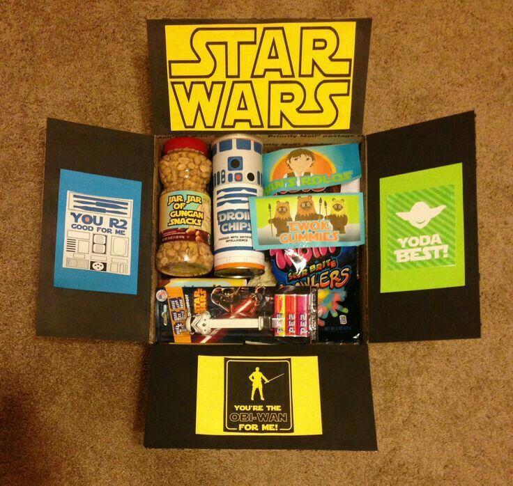 Star Wars Care Package Diy Gifts For Boyfriend Christmas Geek Birthday Present