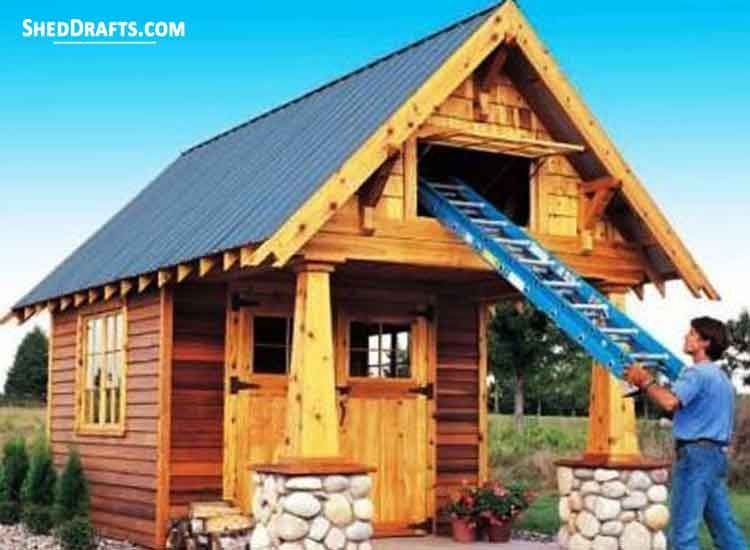 10 10 Storage Shed With Loft Plans Blueprints For Making An Outbuilding Shed With Loft Loft Plan Storage Shed