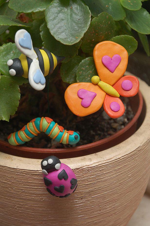 A Fun Mother's Day Project: DIY Garden Love Bugs! --> http://www.hgtvgardens.com/crafts/diy-garden-love-bugs?soc=pinterest