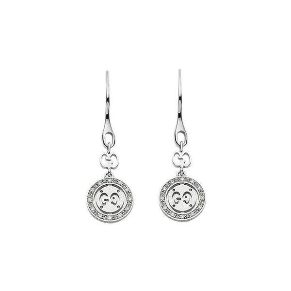 13d435ef6db Gucci Icon Twirl Drop 18kt White Gold   Diamond Earrings (2