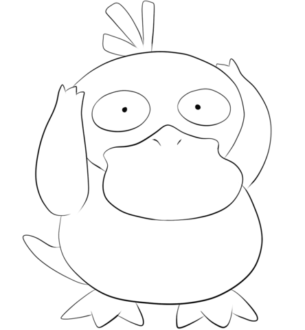 Click To See Printable Version Of Psyduck Coloring Page Pokemon Coloring Pages Pokemon Coloring Pikachu Coloring Page