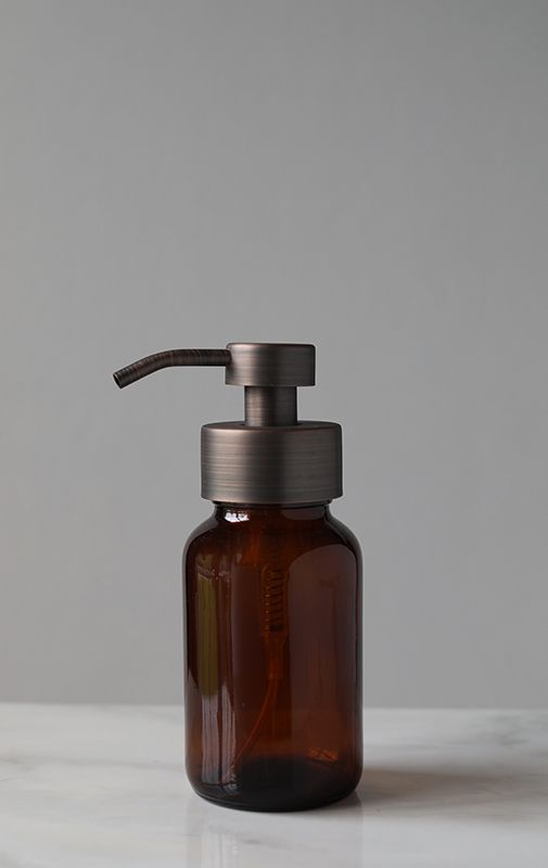 c1e291527b9 Amber Apothecary Glass Foaming Soap Dispenser with Bronze Pump ...