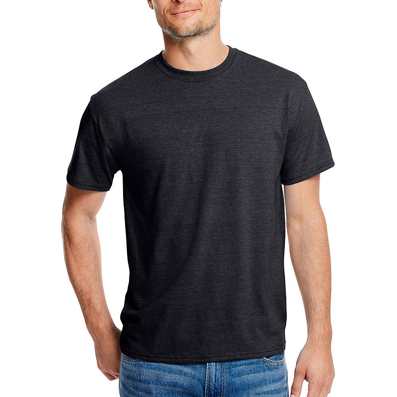 Hanes Mens Crew Neck Short Sleeve Cooling T Shirt Short Sleeve