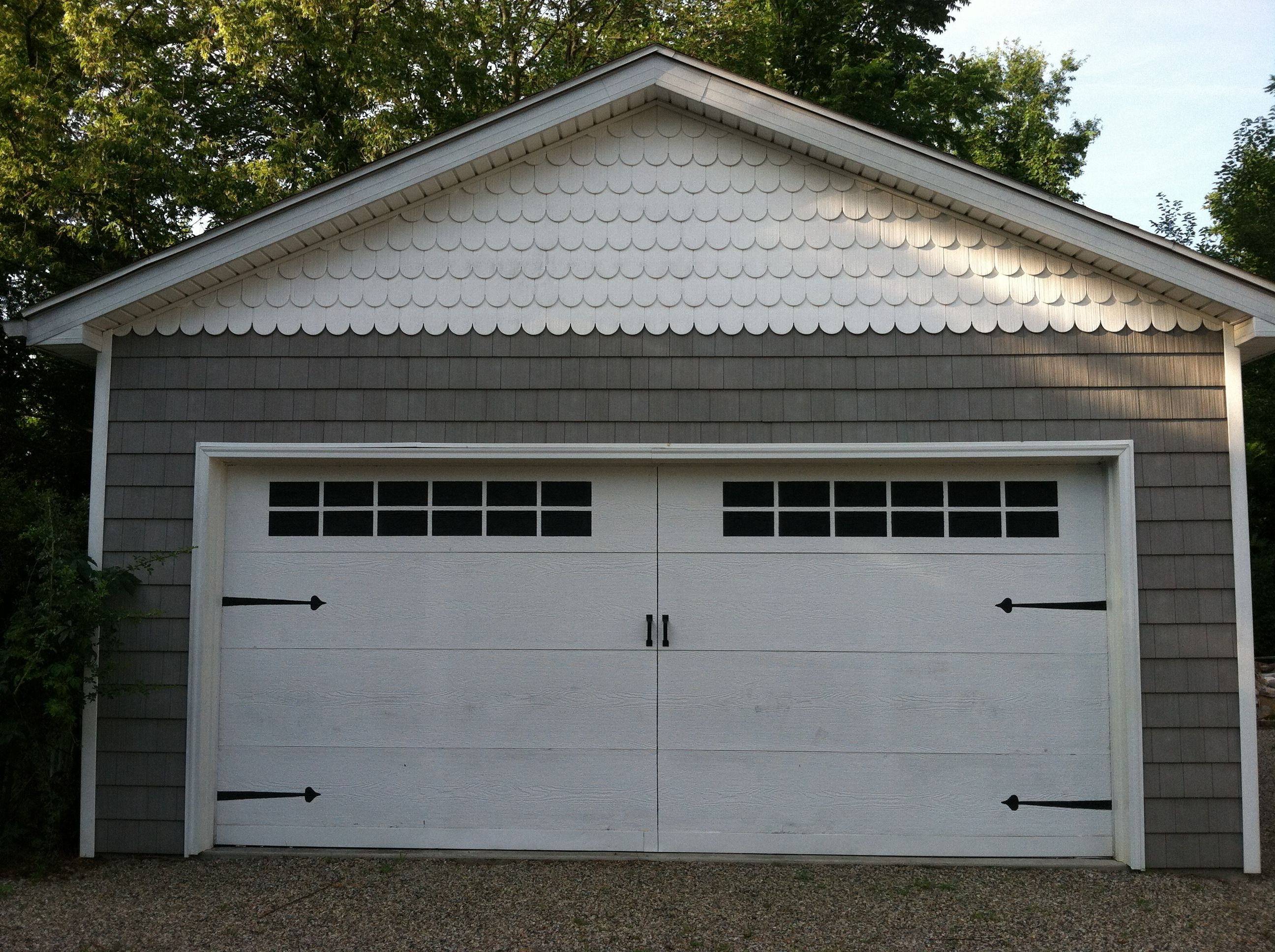 Wanted A Carriage Garage Door So I Painted My Door White And