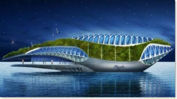 Physalia A Huge Amphibious Garden Cleaning Cross Europe By Vincent - Physalia-a-huge-floating-garden-by-vincent-callebaut