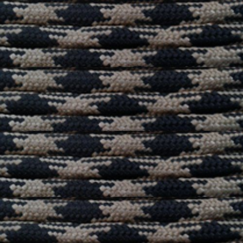 Paracord Planet 25' 550lb Type III Obsidian Paracord. 550lb 7 strand cord. Lightweight and will not rot or mildew. Strong and durable. Multi-purpose: camping, fishing, hiking, survival and more. Made in the USA.